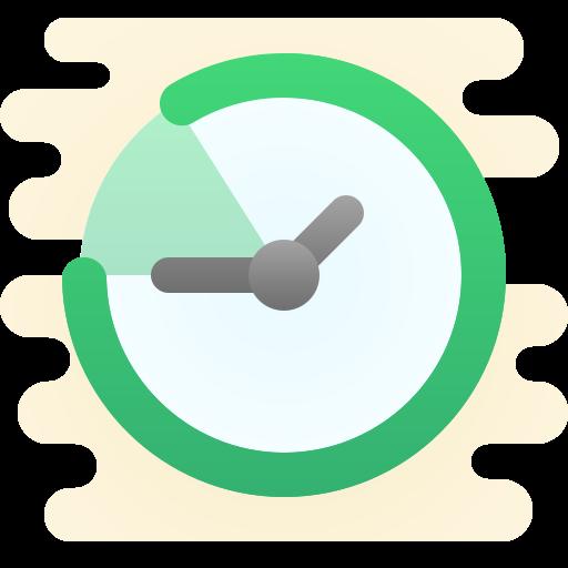 Green clock, referencing quick web design speeds