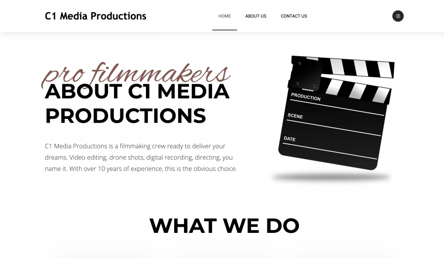 Website of c1 Media Productions in Orlando, made by Zoka Design in Leominster, MA